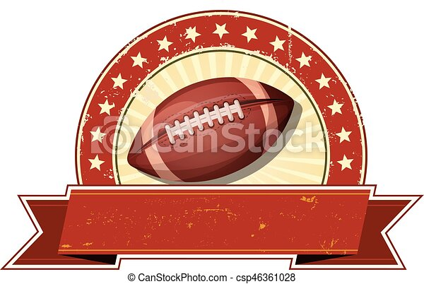 American Football Grunge And Vintage Banner Illustration Of An American Football Sport Banner With Grunge And Vintage
