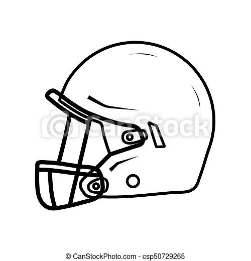 american football helmet side view thin line drawning clip art rh canstockphoto com