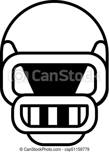 american football helmet vector line icon sign illustration on rh canstockphoto com american football helmet vector free