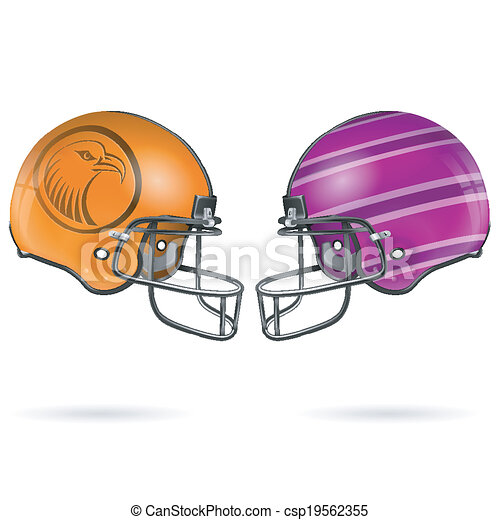American Football Helmets - csp19562355