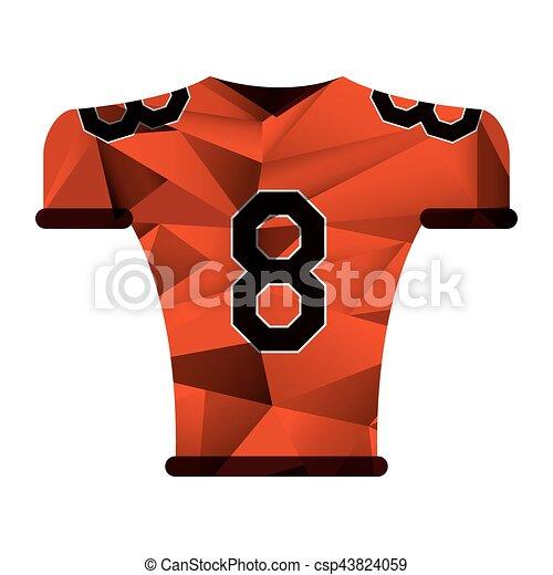 2742c6e56 american football jersey uniform tshirt abstract geometric - csp43824059