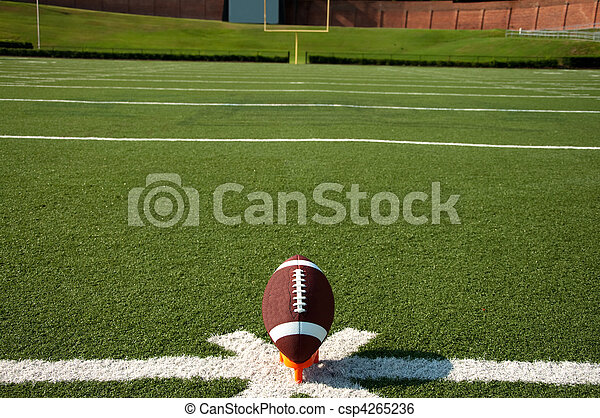 American Football Kickoff - csp4265236