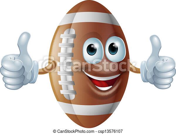 American football man - csp13576107