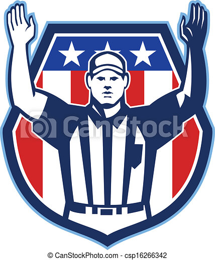 American Football Official Referee Touchdown - csp16266342