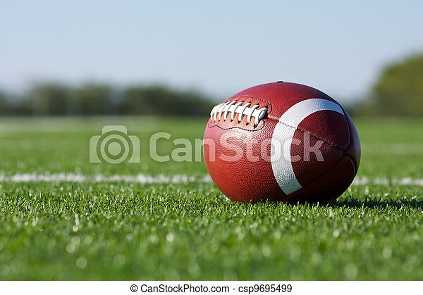 American football on the field - csp9695499