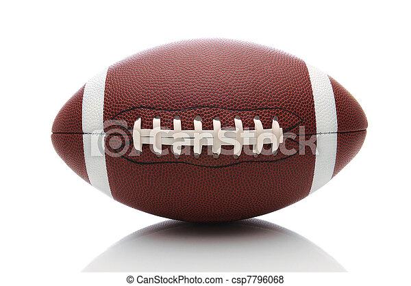 American Football on White - csp7796068