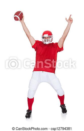 American Football player celebrating - csp12794381
