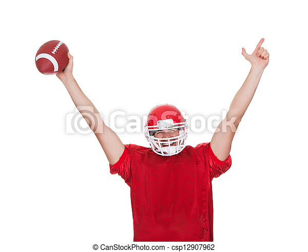 American Football player celebrating - csp12907962