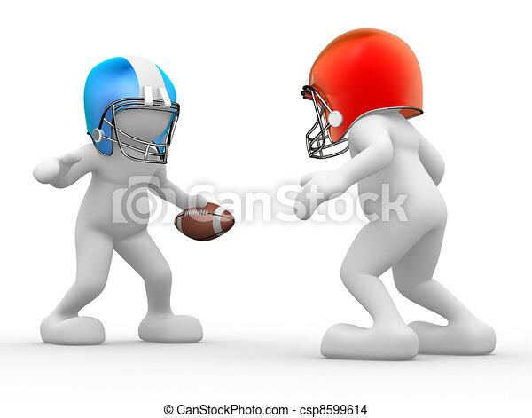American football player - csp8599614