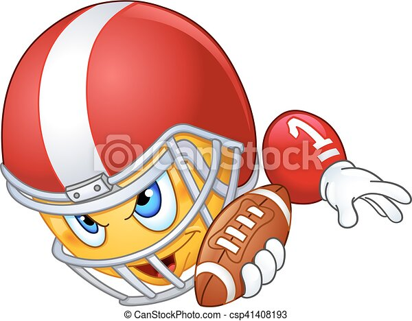 American football player emoticon - csp41408193