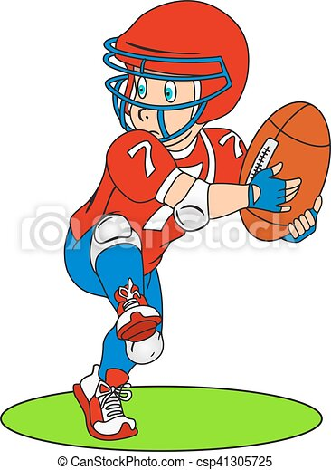 American football player - csp41305725