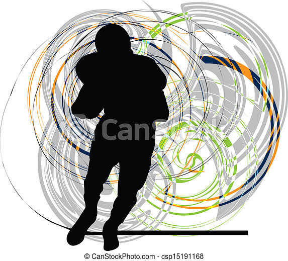 American football player in action - csp15191168