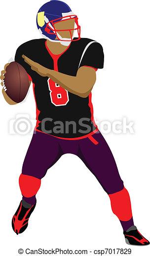 American football player s silhoue - csp7017829