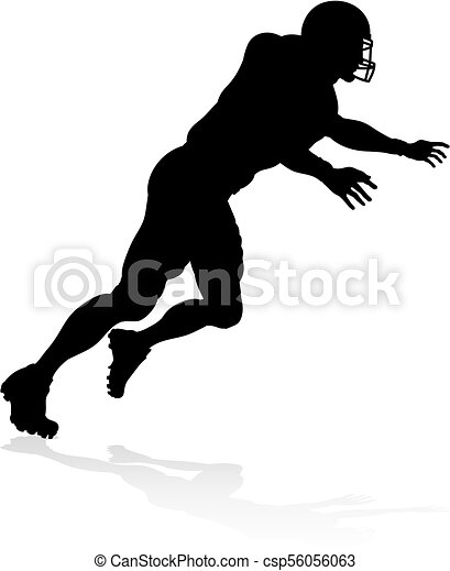 American Football Player Silhouette - csp56056063