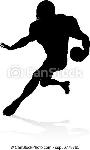 American Football Player Silhouette - csp56773765