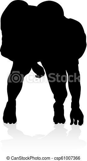 American Football Player Silhouette - csp61007366