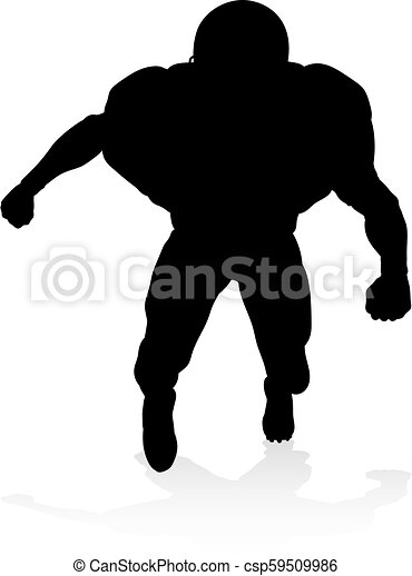 American Football Player Silhouette - csp59509986
