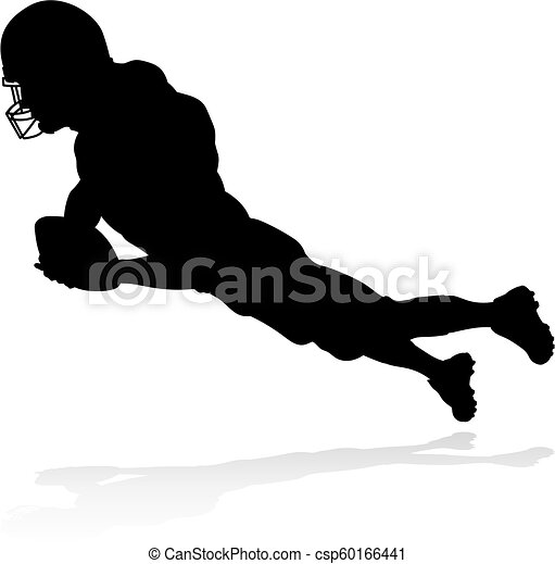 American Football Player Silhouette - csp60166441