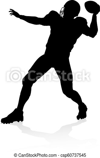 American Football Player Silhouette - csp60737545
