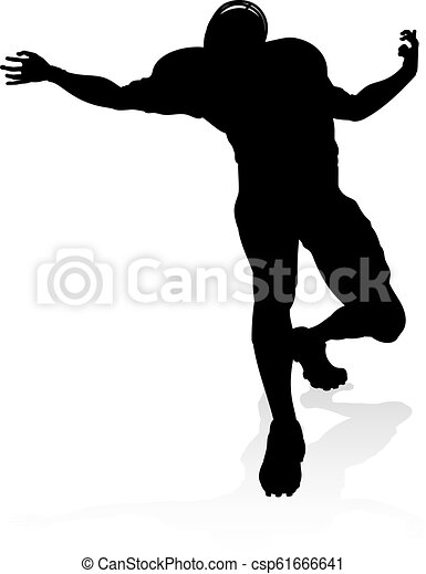American Football Player Silhouette - csp61666641
