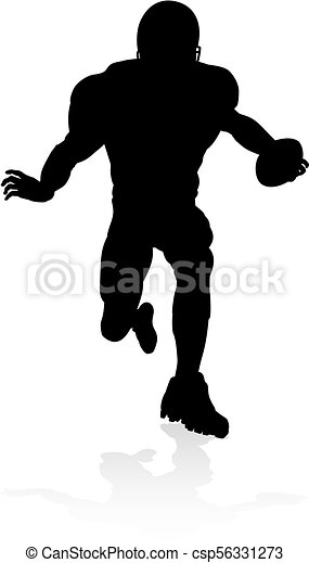 American Football Player Silhouette - csp56331273
