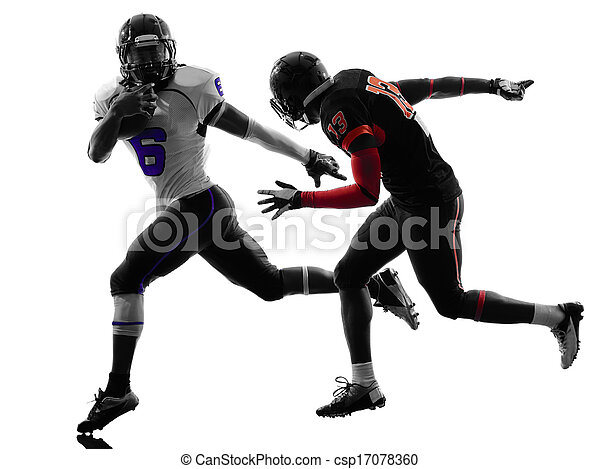 american football player  silhouette - csp17078360