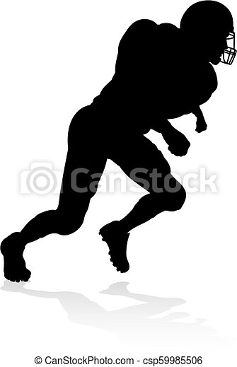 American Football Player Silhouette - csp59985506