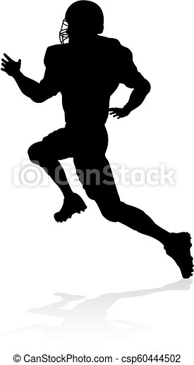American Football Player Silhouette - csp60444502