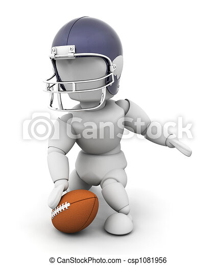 American football player - csp1081956
