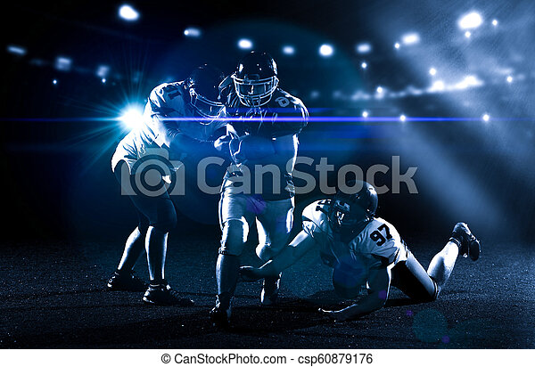 American football players in action - csp60879176