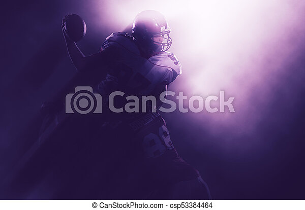 American football players in action - csp53384464