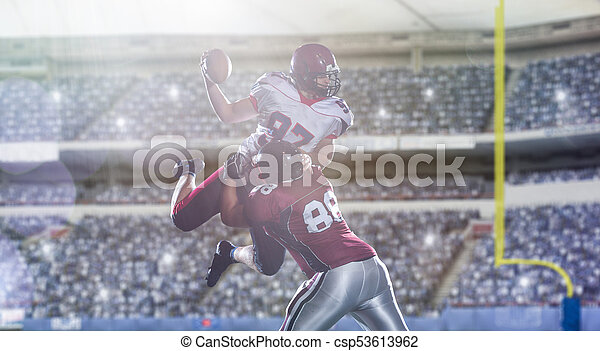 American football players in action - csp53613962