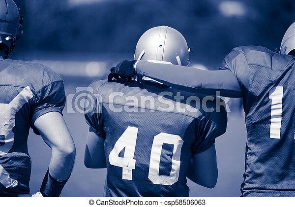 American football players in action - csp58506063