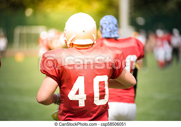 American football players in action - csp58506051