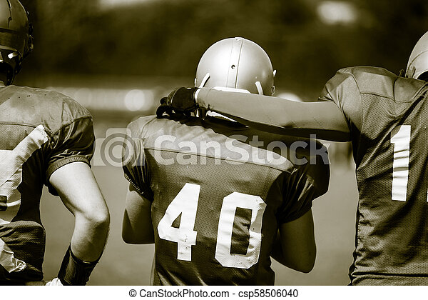 American football players in action - csp58506040