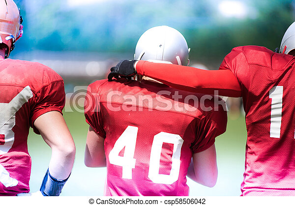 American football players in action - csp58506042