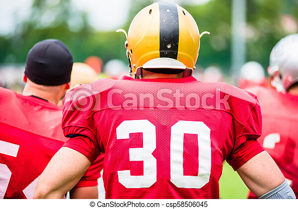American football players in action - csp58506045