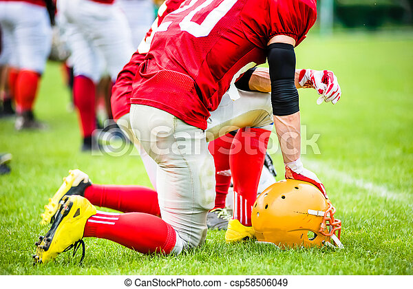 American football players in action - csp58506049