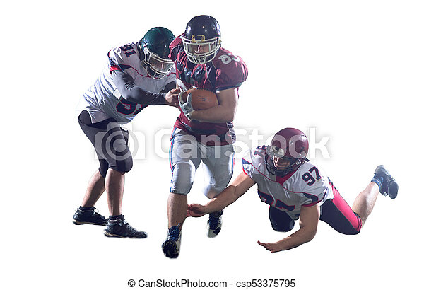American football players in action - csp53375795