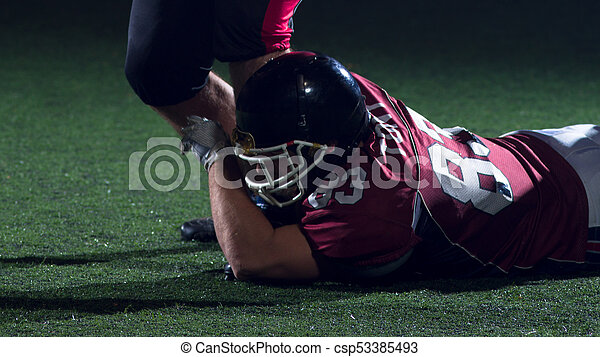 American football players in action - csp53385493