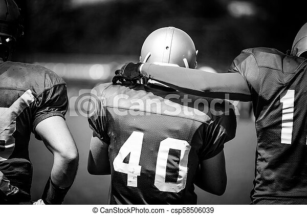 American football players in action - csp58506039