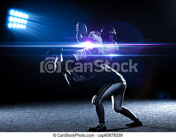 American football players in action - csp60878339