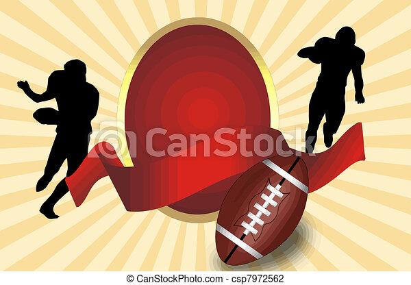 American football poster - csp7972562