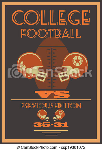 American football poster - csp19381072