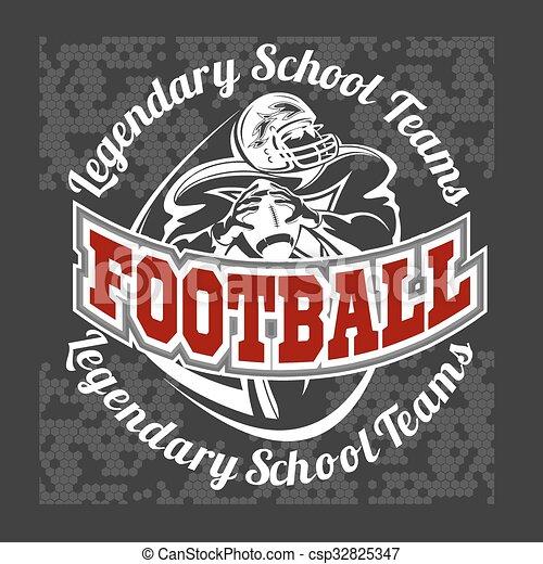 American football - Print for boy sportswear - csp32825347