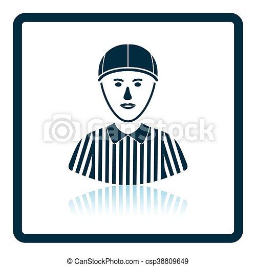 American football referee icon - csp38809649