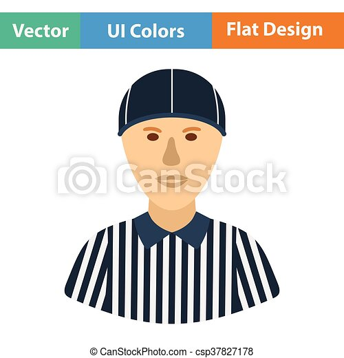 American football referee icon - csp37827178