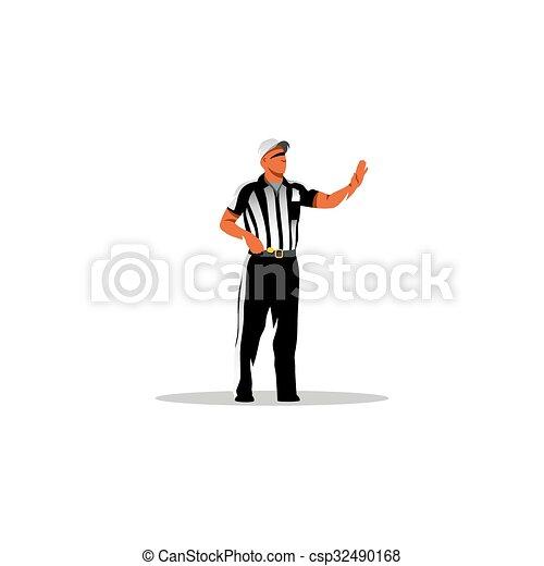 American football referee. Vector Illustration. - csp32490168