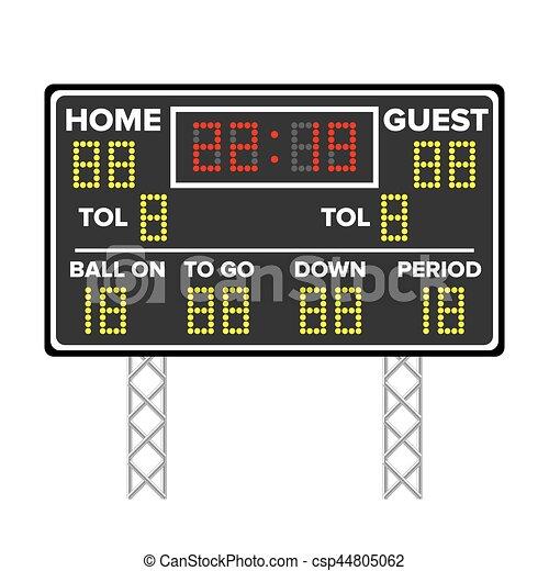american football scoreboard sport game score digital led clip rh canstockphoto com sg baseball scoreboard clip art baseball scoreboard clip art
