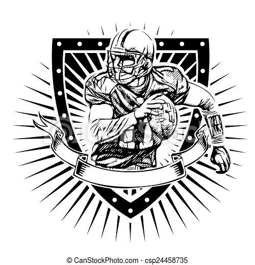American Football Shield American Football Player Vector